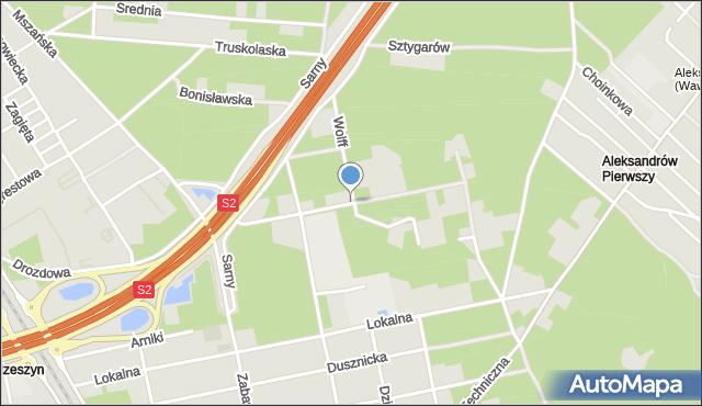 Warszawa, Chryzantemy, mapa Warszawy