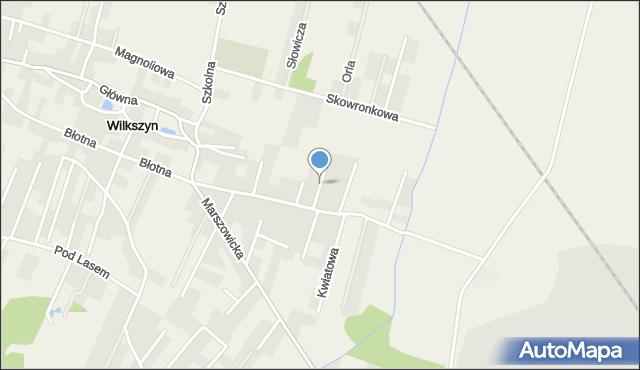 Wilkszyn, Chabrowa, mapa Wilkszyn
