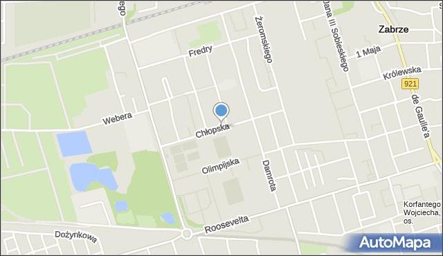 Zabrze, Chłopska, mapa Zabrza