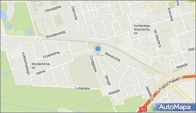 Zabrze, Chmielna, mapa Zabrza