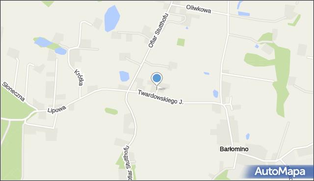 Barłomino, Cicha, mapa Barłomino