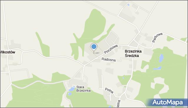 Brzezinka Średzka, Cisowa, mapa Brzezinka Średzka