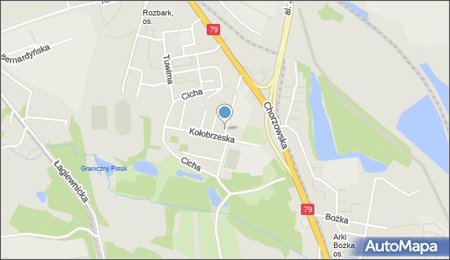 Bytom, Cicha, mapa Bytomia