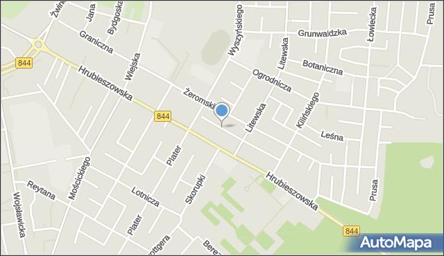 Chełm, Cisowa, mapa Chełma