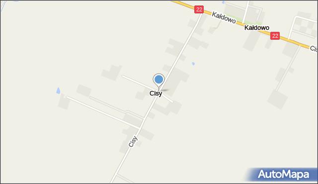 Cisy gmina Malbork, Cisy, mapa Cisy gmina Malbork