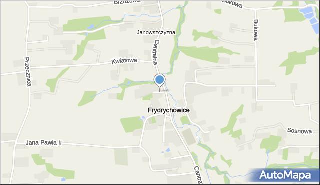 Frydrychowice, Cicha, mapa Frydrychowice