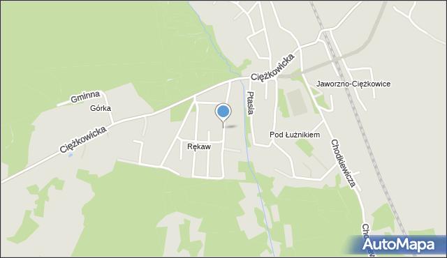 Jaworzno, Cichy Kącik, mapa Jaworzno