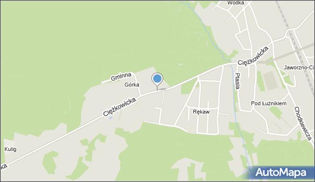 Jaworzno, Ciężkowicka, mapa Jaworzno