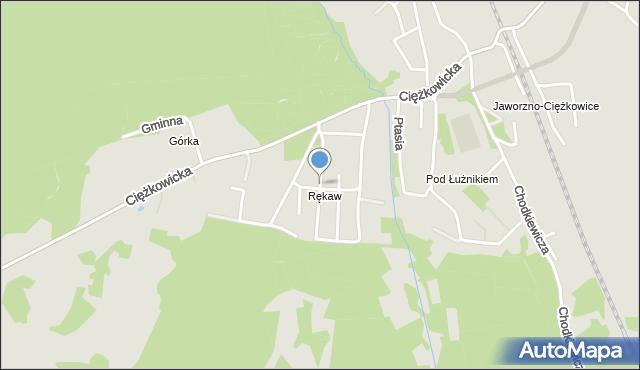 Jaworzno, Ciuby Kazimierza, ks., mapa Jaworzno