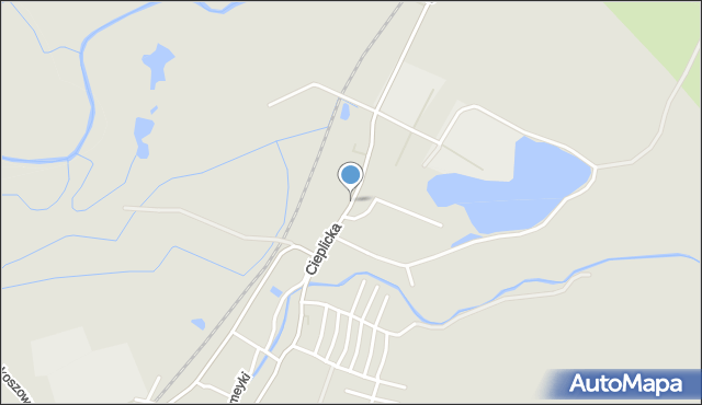 Jelenia Góra, Cieplicka, mapa Jelenia Góra