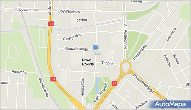 Łódź, Cieszkowskiego Augusta, mapa Łodzi