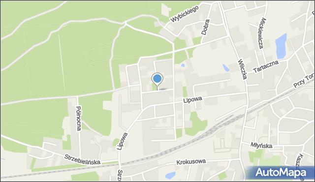 Luzino, Cisowa, mapa Luzino