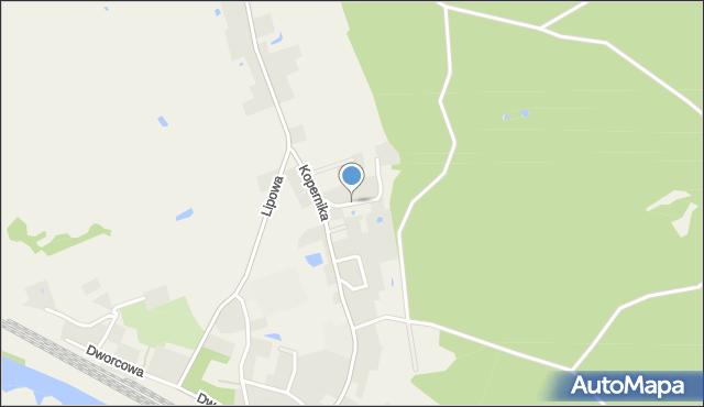 Małdyty, Cicha, mapa Małdyty