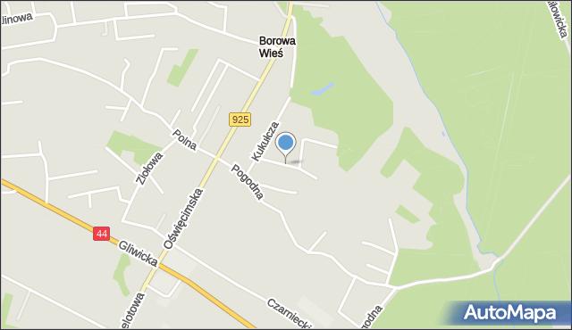 Mikołów, Ciasna, mapa Mikołów