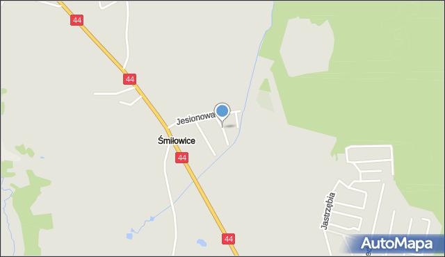 Mikołów, Cisów, mapa Mikołów