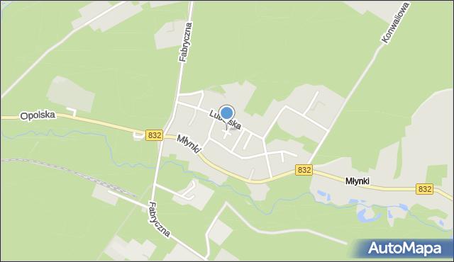 Poniatowa powiat opolski, Cicha, mapa Poniatowa powiat opolski