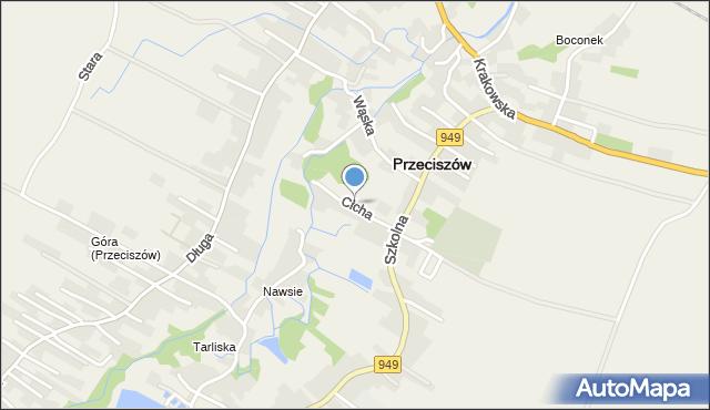 Przeciszów, Cicha, mapa Przeciszów