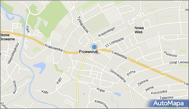 Przeworsk, Cicha, mapa Przeworsk