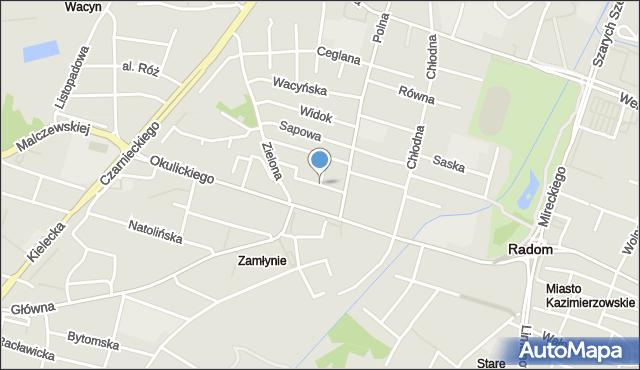 Radom, Ciesielska, mapa Radomia