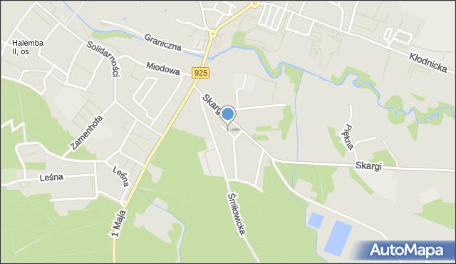Ruda Śląska, Cisowa, mapa Rudy Śląskiej