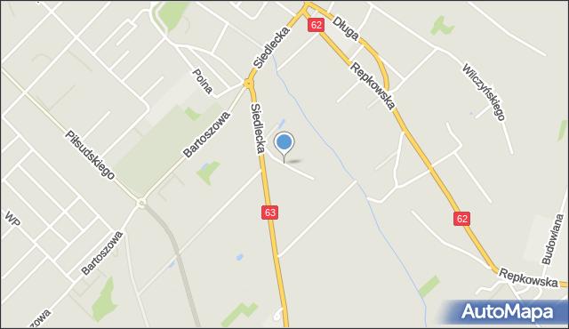 Sokołów Podlaski, Cicha, mapa Sokołów Podlaski