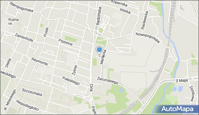 Sosnowiec, Cicha, mapa Sosnowca