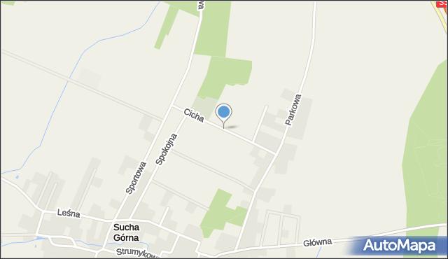 Sucha Górna, Cicha, mapa Sucha Górna