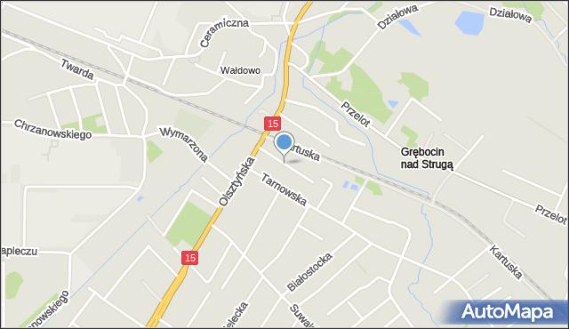Toruń, Ciechanowska, mapa Torunia