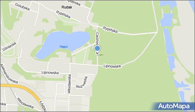 Toruń, Ciechocińska, mapa Torunia