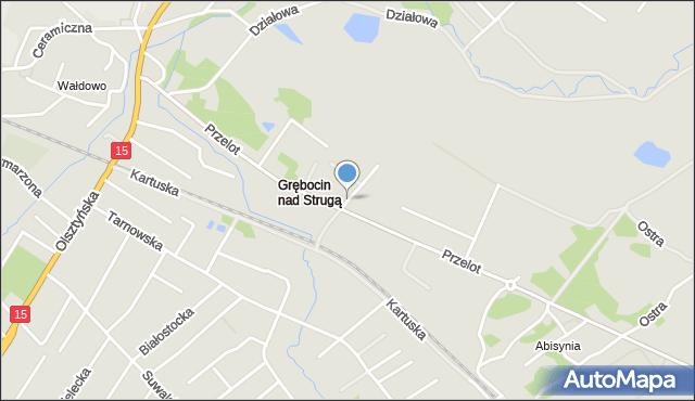 Toruń, Ciekawa, mapa Torunia