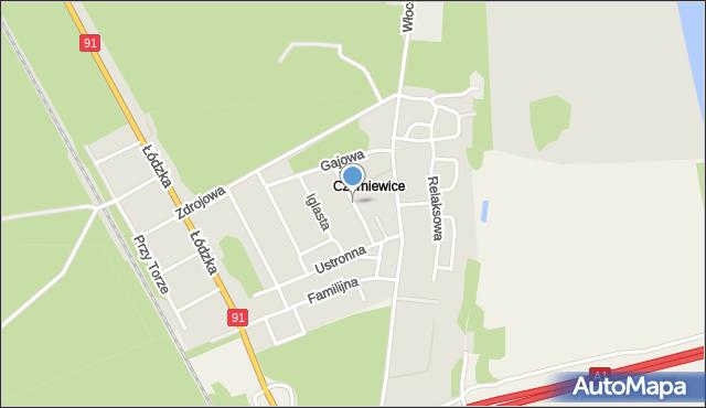 Toruń, Cienista, mapa Torunia