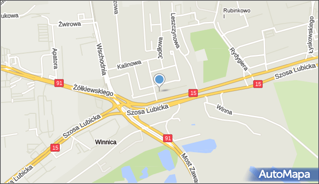 Toruń, Cisowa, mapa Torunia