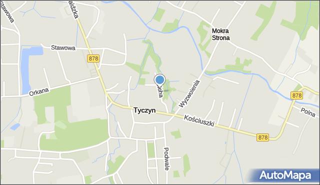 Tyczyn powiat rzeszowski, Cicha, mapa Tyczyn powiat rzeszowski