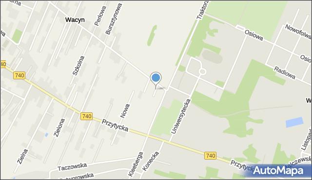 Wacyn, Cicha, mapa Wacyn