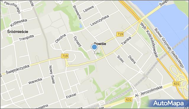 Warszawa, Cicha, mapa Warszawy
