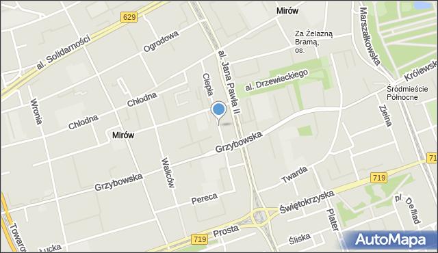 Warszawa, Ciepła, mapa Warszawy