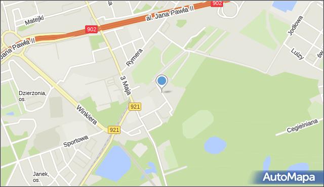 Zabrze, Cisowa, mapa Zabrza