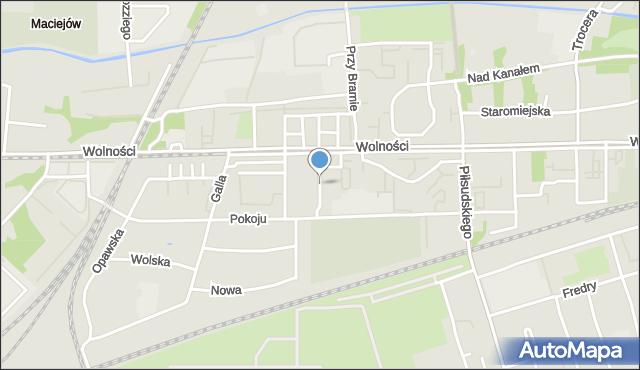 Zabrze, Ciupki Józefa, mapa Zabrza