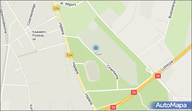 Grudziądz, Cmentarna, mapa Grudziądza