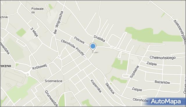 Jaworzno, Cmentarna, mapa Jaworzno