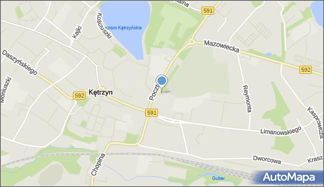 Kętrzyn, Cmentarna, mapa Kętrzyn