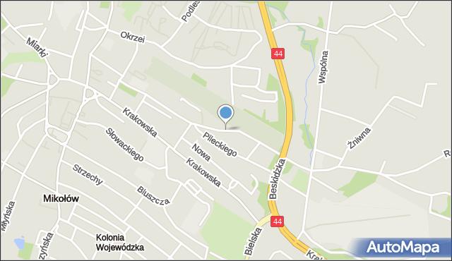 Mikołów, Cmentarna, mapa Mikołów