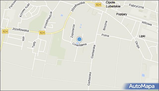 Opole Lubelskie, Cmentarna, mapa Opole Lubelskie