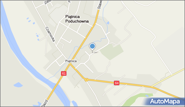 Piątnica Poduchowna, Cmentarna, mapa Piątnica Poduchowna