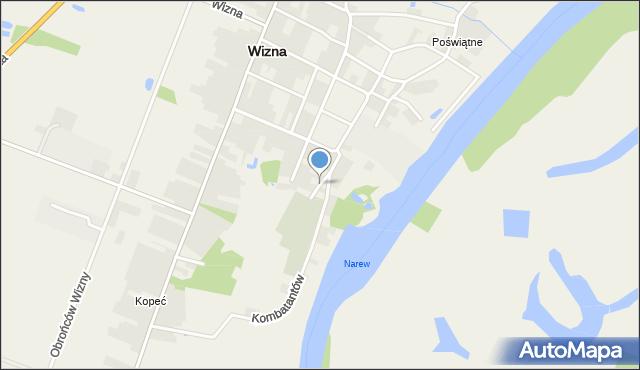Wizna, Cmentarna, mapa Wizna