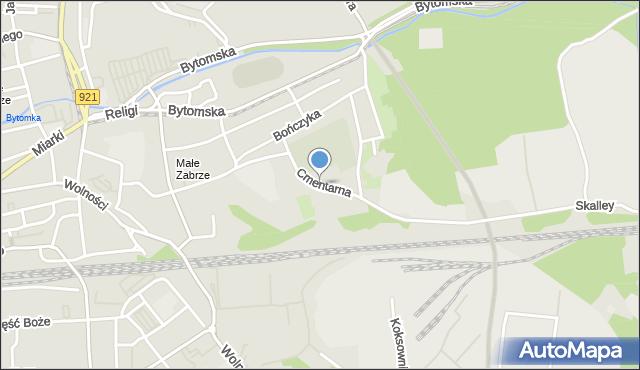 Zabrze, Cmentarna, mapa Zabrza