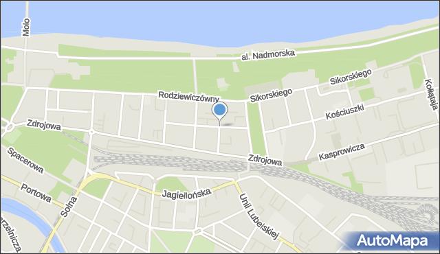 Kołobrzeg, Conrada-Korzeniowskiego Józefa, mapa Kołobrzegu