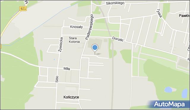 Zabrze, Copika Rafała, mapa Zabrza