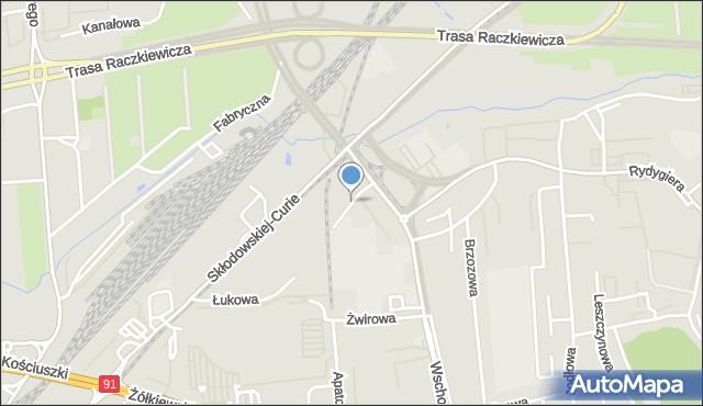 Toruń, Curie Piotra, mapa Torunia