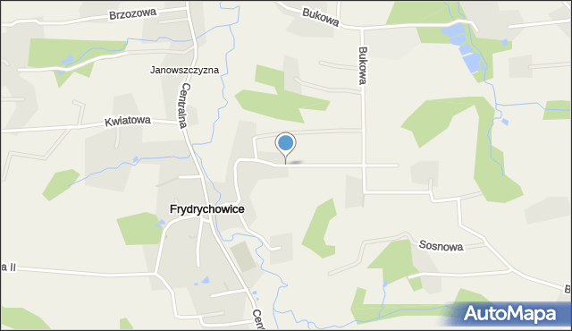 Frydrychowice, Cyprysowa, mapa Frydrychowice